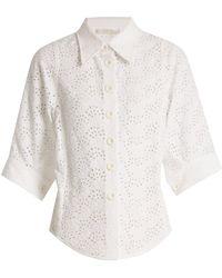 Chloé - Broderie-anglaise Shirt - Lyst
