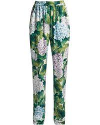 Dolce & Gabbana | Ortensia-print Charmeuse Pyjama Trousers | Lyst