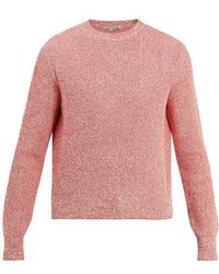 Stella McCartney - Crew-neck Ribbed-knit Cotton Sweater - Lyst