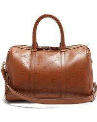 Stella McCartney - Logo Pattern Faux Leather Holdall - Lyst