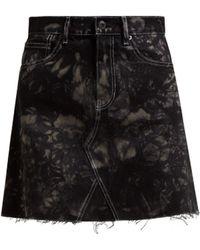 Proenza Schouler - Bleached Denim Mini Skirt - Lyst