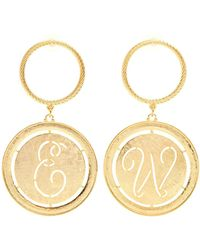 Emilia Wickstead - Glenda Gold-plated Hoop And Disc-drop Earrings - Lyst