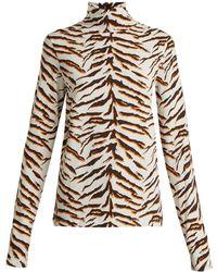 M.i.h Jeans - X Golborne Road By Bay Garnett Tiger Print Top - Lyst