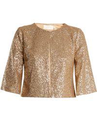 Goat - Evon Collarless Sequin-embellished Jacket - Lyst