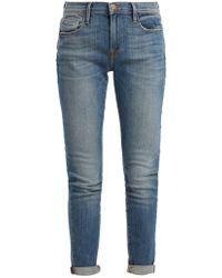 FRAME - Le Garcon Mid-rise Jeans - Lyst