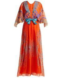 Zandra Rhodes - - Archive Ii The 1978 Mexican Mountain Gown - Womens - Orange Multi - Lyst