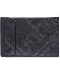Dunhill Porte-cartes en cuir texturé à imprimé logo