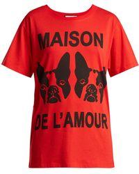 Gucci - Maison De L'amour-print Cotton T-shirt - Lyst