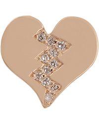 Alison Lou - Diamond & Yellow-gold Broken Heart Earring - Lyst
