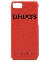 Raf Simons - - Leather Iphone® 7/8 Case - Womens - Orange - Lyst
