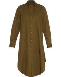 Yohji Yamamoto Regulation - Cotton-twill Shirt Dress - Lyst