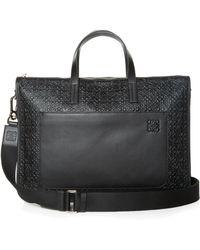 Loewe - Toledo Logo-debossed Leather Briefcase - Lyst