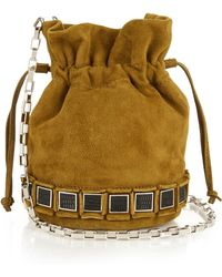 Tomasini Paris - Suede Bucket Bag - Lyst
