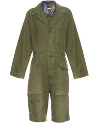 Bliss and Mischief - Distressed Vintage Cotton Jumpsuit - Lyst