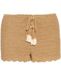 She Made Me - Oh Girl Crochet Shorts - Lyst