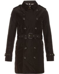 Burberry Brit - Hooded Nylon Trench Coat - Lyst
