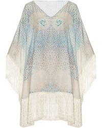 Athena Procopiou - Little Lies Cotton And Silk-blend Kaftan - Lyst