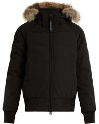 Canada Goose - Savona Fur-Trimmed Down-Padded Bomber Jacket - Lyst