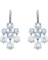 Bottega Veneta - Cubic Zirconia And Silver Chandelier Earrings - Lyst