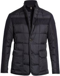 Moncler - Ardenne Notch-lapel Layered Down Coat - Lyst