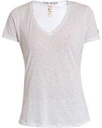 Todd Snyder - V-neck Cotton-blend Jersey T-shirt - Lyst