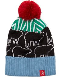 Perfect Moment - Play Pompom Beanie Hat - Lyst