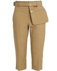 Yohji Yamamoto Regulation | High-rise Cropped Trousers | Lyst