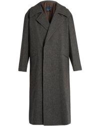 Yohji Yamamoto Regulation - Loose-fit Wool-flannel Coat - Lyst