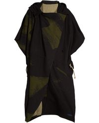 Yohji Yamamoto Regulation - Wool-blend Hooded Cape - Lyst