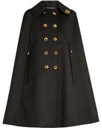 Dolce & Gabbana - Embellished-collar Wool Cape - Lyst