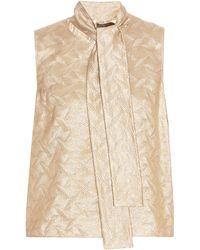 Max Mara Elegante | Baschi Silk-Blend Jacquard Top | Lyst