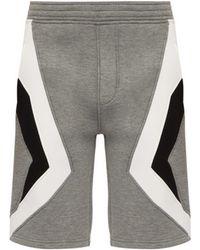 Neil Barrett - Chevron Panelled Shorts - Lyst