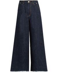 MUVEIL - Bow-pockets Wide-leg Jeans - Lyst