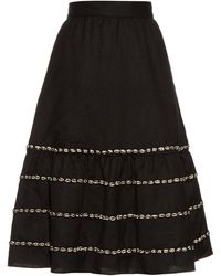 Jupe by Jackie - Pampanini Embroidered A-line Wool Skirt - Lyst