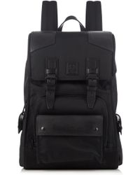 Belstaff - Tourmaster Technical-nylon And Leather Backpack - Lyst