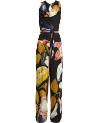 Vivienne Westwood Anglomania - Twisted Floral-print Crepe Jumpsuit - Lyst
