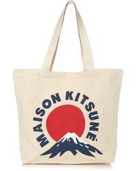 Maison Kitsuné - Canvas Print Tote - Lyst