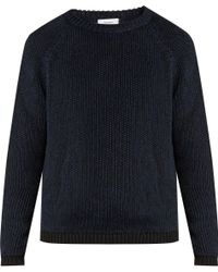 Fanmail - Ribbed-knit Cotton And Linen-blend Sweater - Lyst
