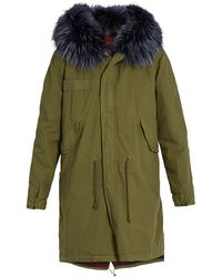 Mr & Mrs Italy - Fur-trimmed Canvas Parka - Lyst
