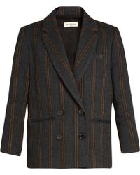 MASSCOB - Double-breasted Striped Jacket - Lyst