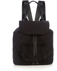 Elizabeth and James - Langley Leather-trim Nylon Backpack - Lyst