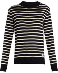 Orcival - Crew-neck Striped Wool Sweater - Lyst