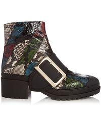 Burberry Prorsum - The Buckle Watersnake Ankle Boots - Lyst