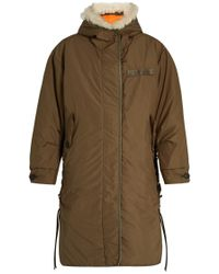 Rag & Bone - Billow Shearling-Trimmed Hooded Lace-up Parka - Lyst