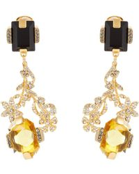 Marni - Floral Crystal-embellished Earrings - Lyst