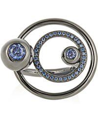 Eddie Borgo - Voyager Gunmetal-plated Ring - Lyst