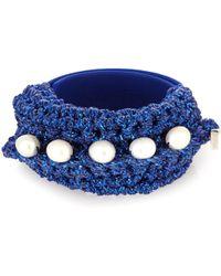 Lucy Folk | Pearl Diver Slap Crochet And Pearl Bracelet | Lyst