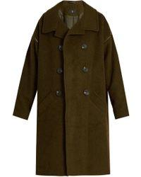 Y's Yohji Yamamoto - Oversized-lapel Wool Coat - Lyst