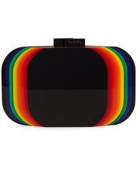 Sarah's Bag - Aura Rainbow Perspex Clutch - Lyst