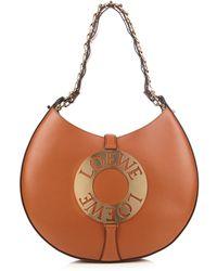 Loewe - Joyce Leather Shoulder Bag - Lyst